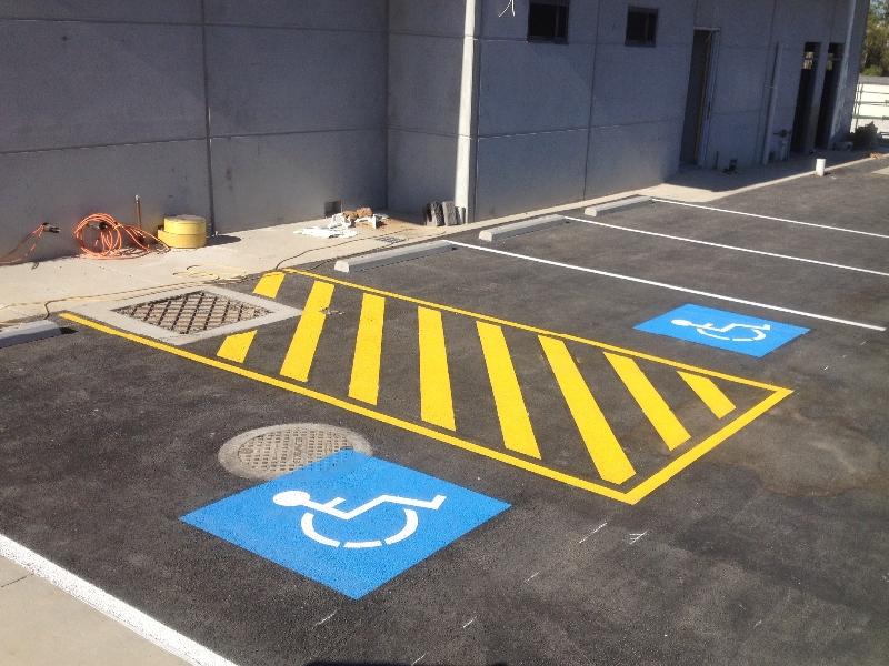 Wheelchair Road Line Marking in Brisbane