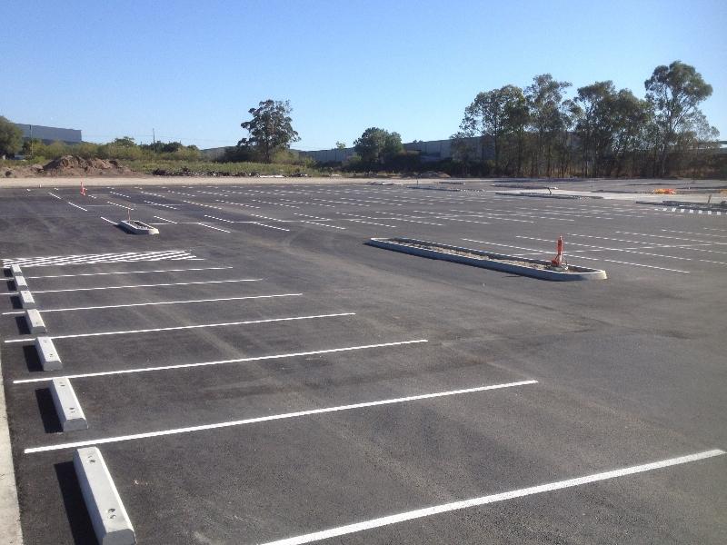 Wheel Stops Line marking in Brisbane